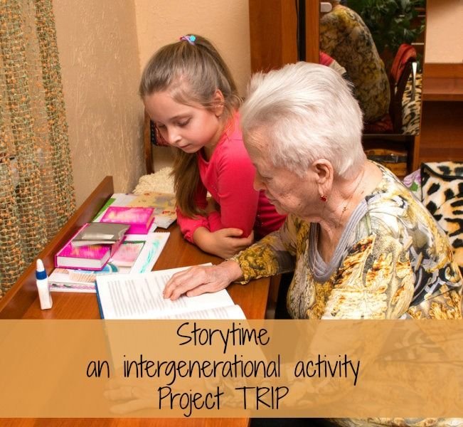 Storytime #intergenerational activity plan!