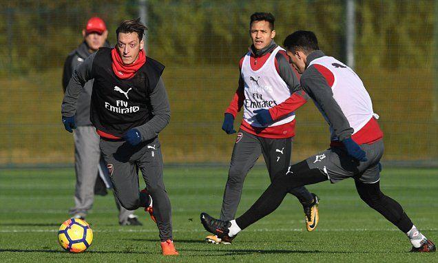 Arsenal make final preparations for Tottenham Clash