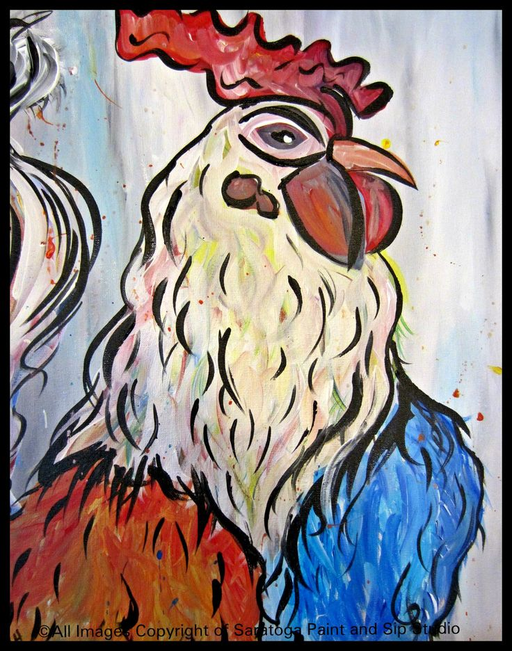 REGAL ROOSTER at Saratoga Paint and Sip Studio
