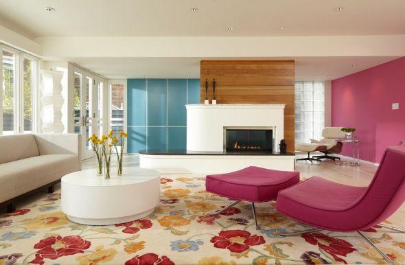 Стильная асимметричная гостиная