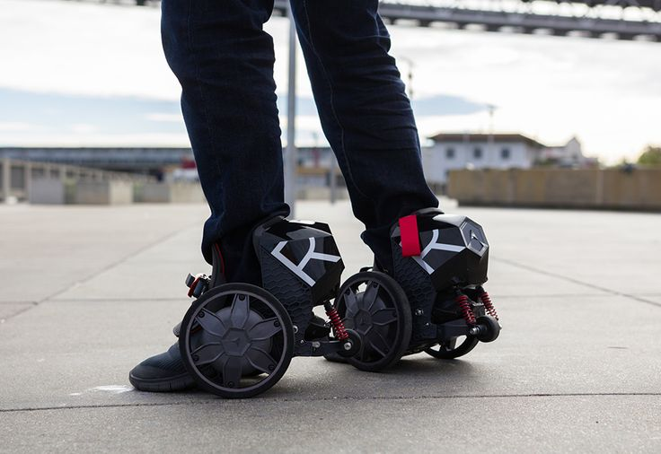 App-Controlled Electric Skates  Skate your way across campus, or across town! The App-Controlled Electric Skates give you 90 minutes (10 miles) of use on a full charge, at speeds up to 12 m.p.h. Just slip your feet into the adjustable pads and select a user mode (beginner/normal/pro). Use your iPhone, Samsung Galaxy or other Android phone to control the skates via Bluetooth