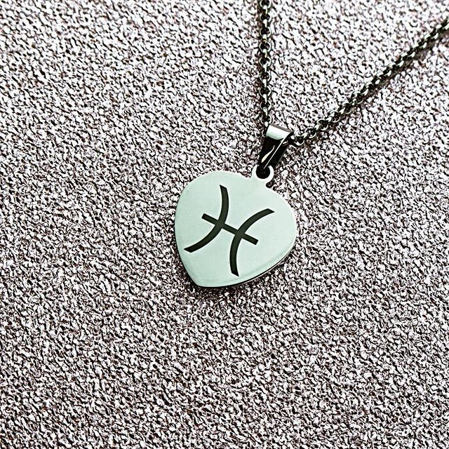 @inserttextheredesign Pisces horoscope pendant ♓️ www.inserttexthere.co.uk #horoscope #horoscopes #pisces #starsign #custom #customised #customized #zodiac #zodiacsigns #february #march #symbol #personalised #birthday #personalized