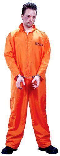 Men's Got Busted Penitentiary prisoner Halloween Costume