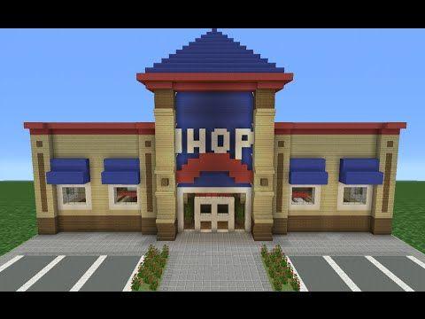 Minecraft Tutorial: How To Make AN IHOP (Restaurant)