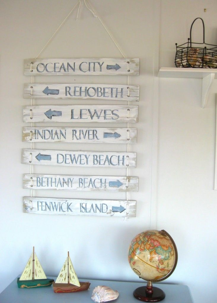 Inspirational Wall Art Ideas Delaware BeachDirection SignsBeach House