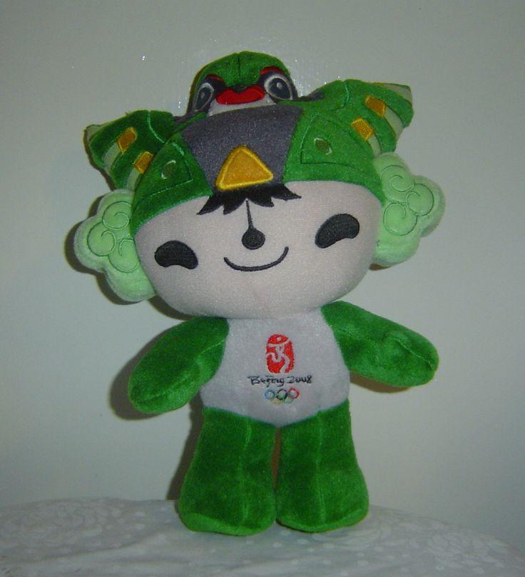 Beijing Summer Olympics 2008 Mascot Plush Yanjing the Green Ring Gymnast at MyTexasTreasure on Bonanza