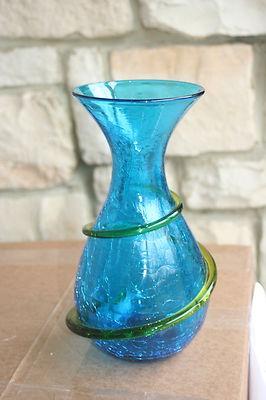 236 Best Crackle Glass Images On Pinterest Crackle Glass Glass Vase And Flower Vases