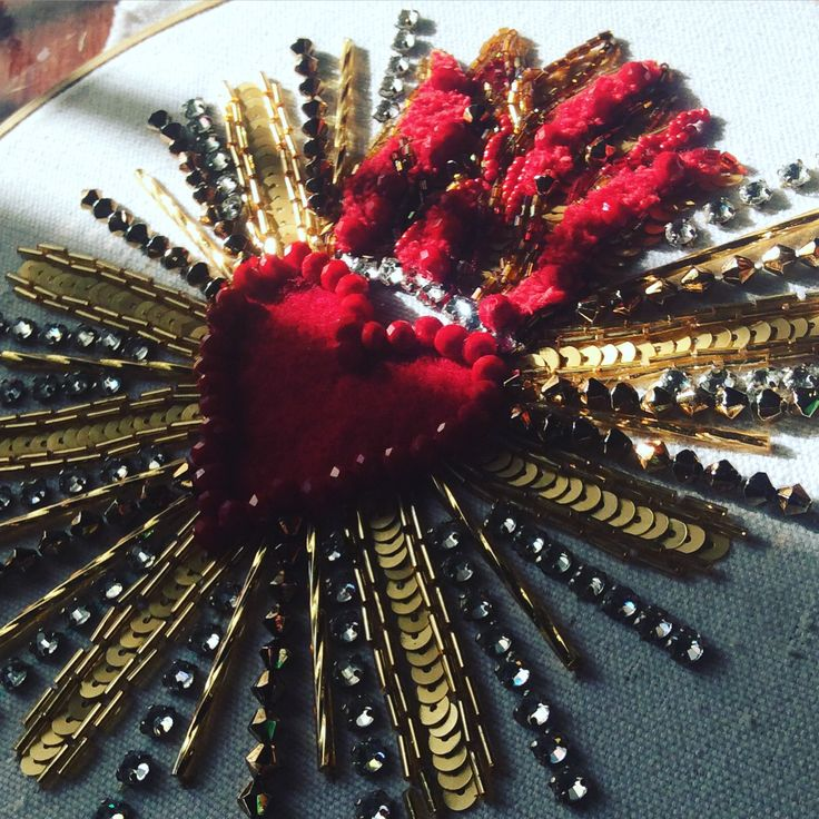 Heart of Jesus embroidery
