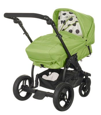 Buy your OBaby ZeZu Multi Pramette - Dotty Lime from Kiddicare Baby Prams| Online baby shop | Nursery Equipment
