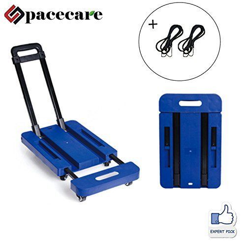 5cbf629f0799 SPACECARE Folding Luggage Cart Portable Hand Truck 440lbs 360 Rotate ...