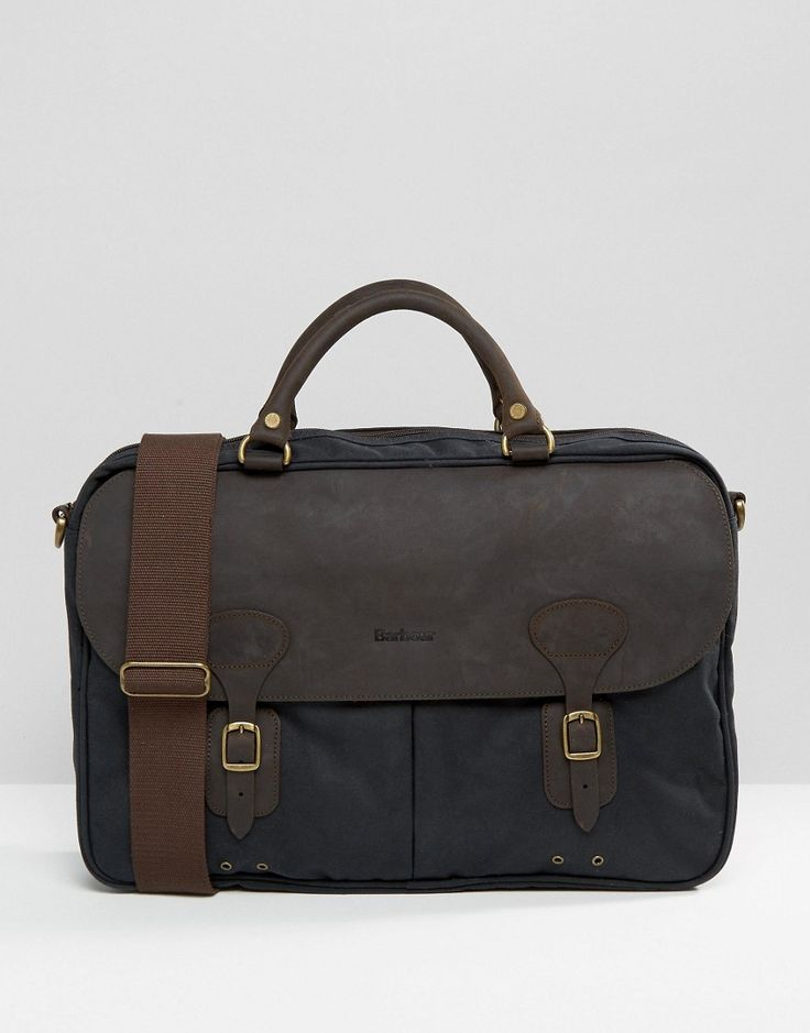 Barbour+Wax+Briefcase+In+Navy