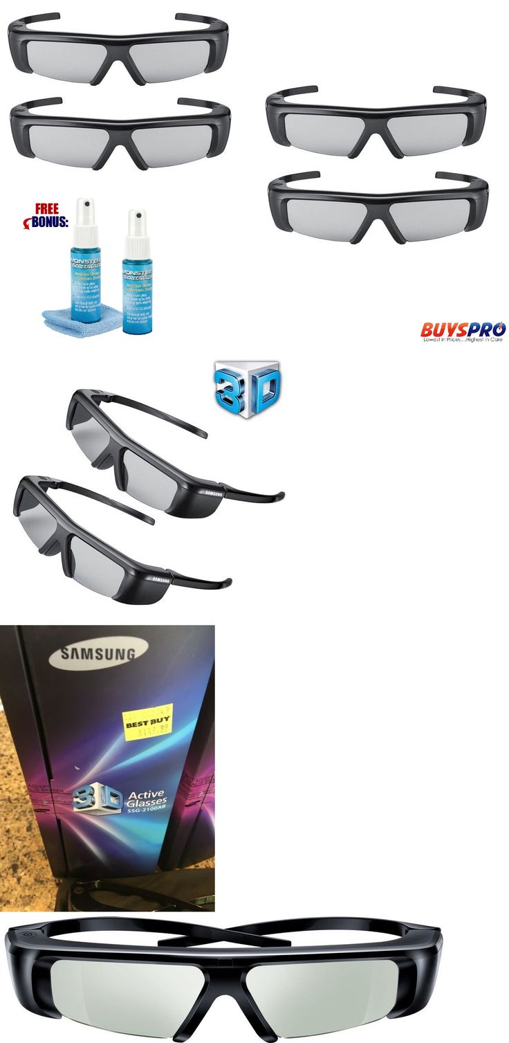 3D TV Glasses and Accessories: New Lot 4Pc Samsung 3D Active Glasses Ssg-2100Ab . Sealed Retail Packaging. 2010 -> BUY IT NOW ONLY: $128.88 on eBay!