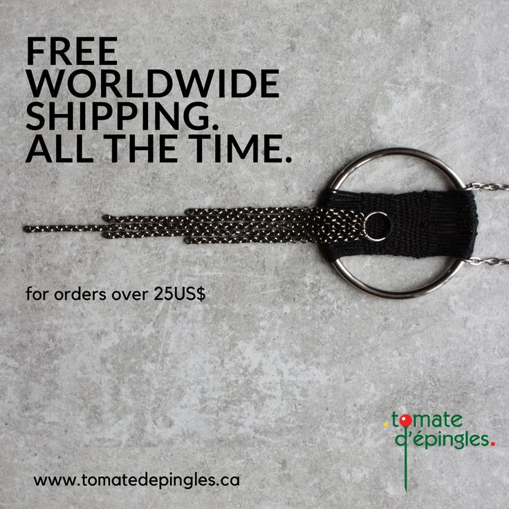 Did you know... You can get  FREE WORLDWIDE SHIPPING in my online shop? Yup, that's right: get free WORLDWIDE SHIPPING for any order over 25$.  Enjoy!  www.tomatedepingles.ca