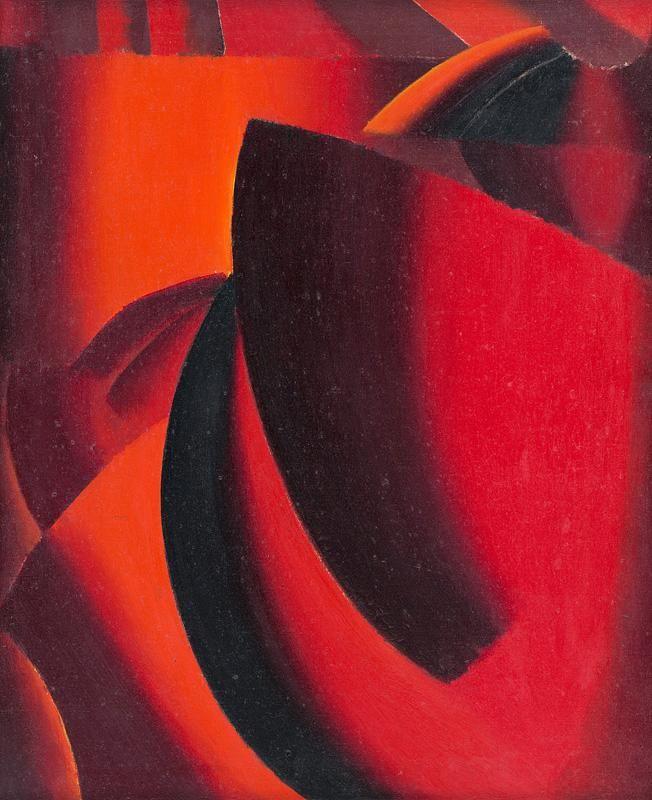 Web umenia | Milan Laluha - Červená kompozícia