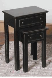 Nesting Table with Drawers