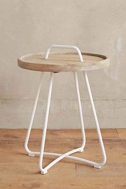 Threaded Button Side Table #anthropologie