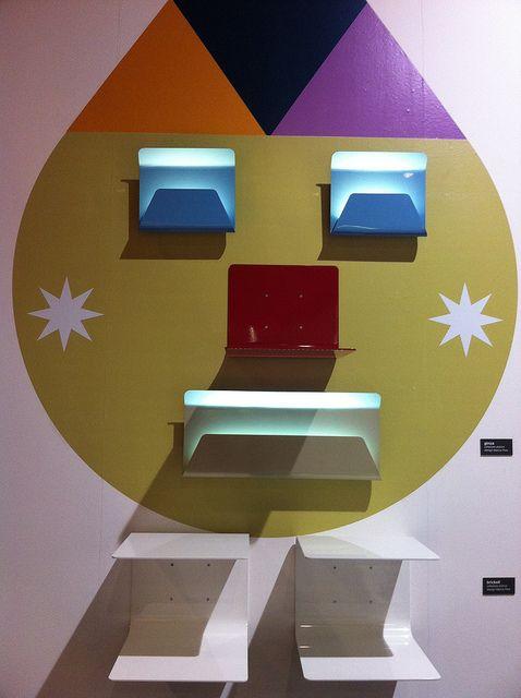 #ginza wall lamps and #brickell shelves, design by Marco Piva for #altreforme, #district collection at Salone del Mobile 2012 #interior #home #decor #homedecor #furniture #aluminium