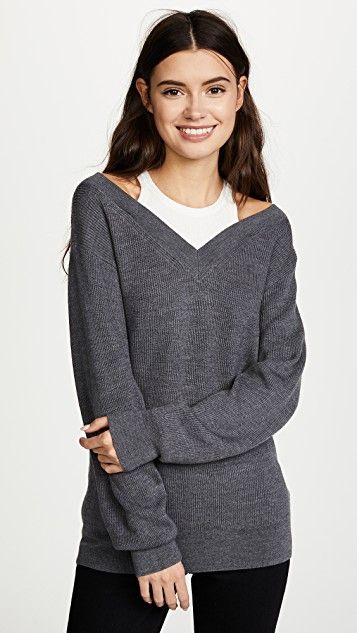 0ad6ccaf1 Off the Shoulder Sweater with Inner Tank in 2018