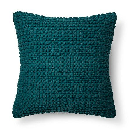 Throw Pillow Teal Textured Blue - Threshold™ : Target