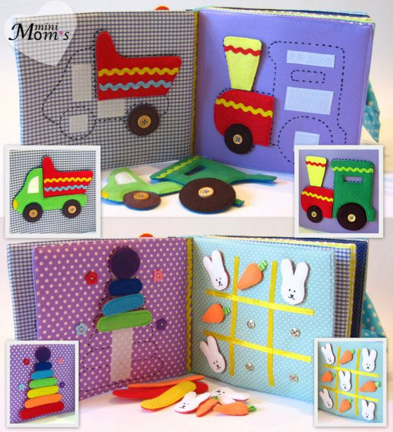 Children's Quiet Book Busy Book Eco friendly by MiniMoms on Etsy