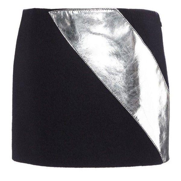 Boiled Wool Micro Skirt   Moda Operandi ($800) ❤ liked on Polyvore featuring skirts, mini skirts, metallic mini skirt, mini skirt, metallic skirt, panel skirt and fitted skirts