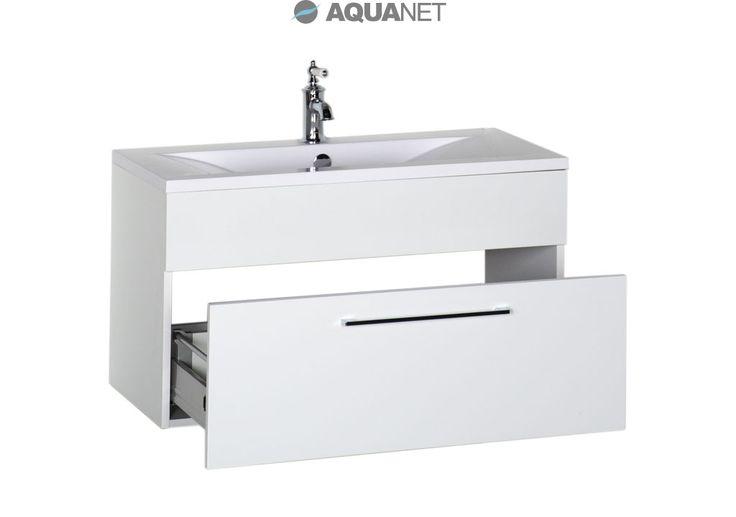 Тумба De Aqua Кубика 90 белый с раковиной для ванной комнаты купить в Москве - Акванет.Ру