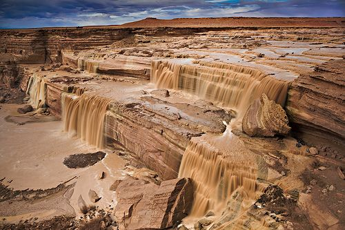 Chocolate Falls, Arizona.  We traveled all over Arizona and didn't see anything like this.  Very cool!