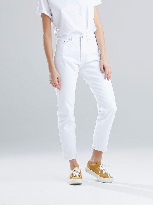 Lucy White jeans | | Hvit | BikBok | Norge