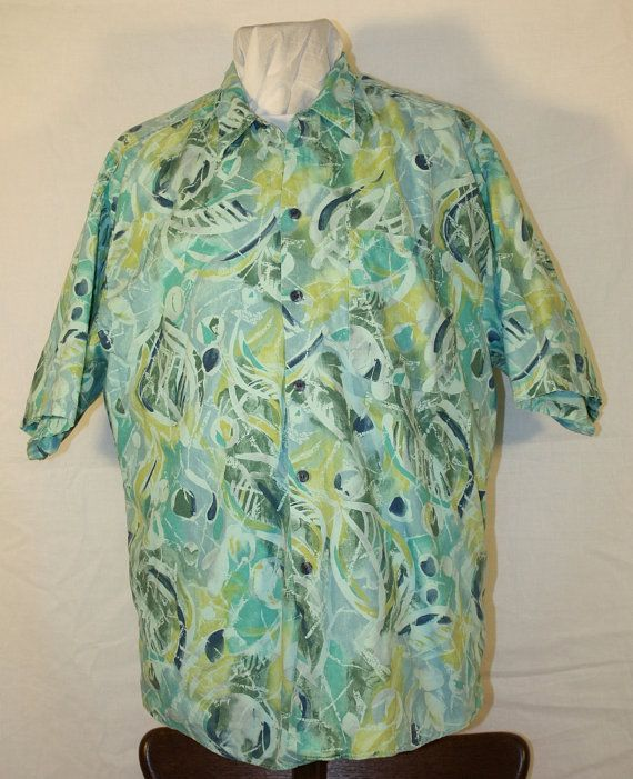 Vintage Men's Abstract Hawiian Shirt by Bon by ilovevintagestuff