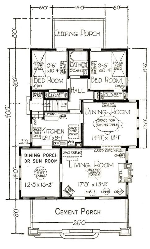 The Sears Bandon Floor Plan Homes By Mail Pinterest Bungalow And House