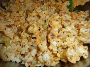 Popcorn salad...must use real mayo and unbuttered white popcorn. THE best!