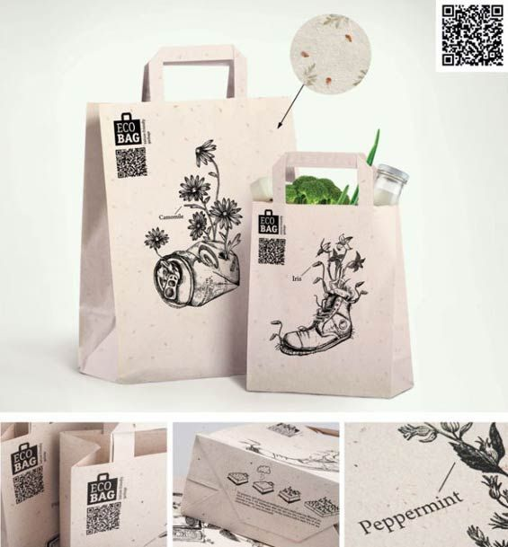 """Love this """"eco"""" #bag embedded with seeds PD"""