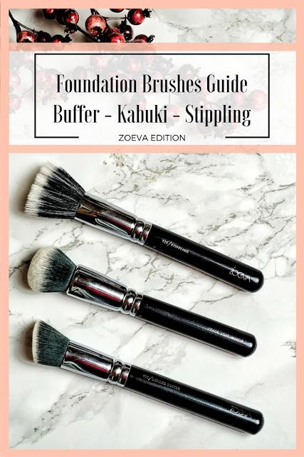 Foundation Brush Guide Buffer Kabuki Stippling Zoeva Edition