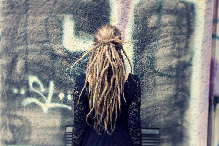This is my ideal look - loose hair on top, clean-looking dreadlocks underneath.