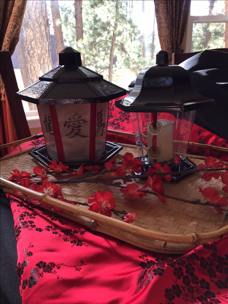 Walmart bird feeders made into Asian lanterns