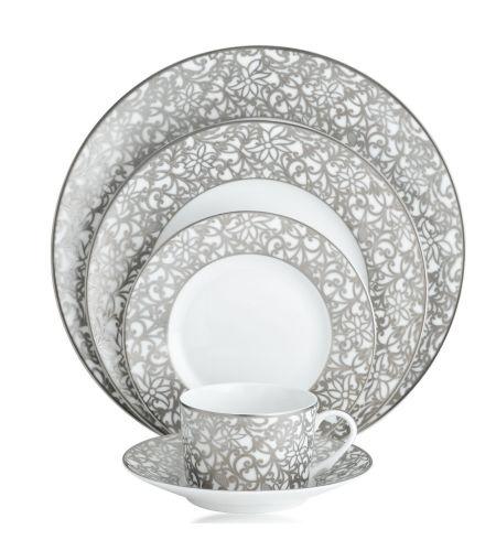 Salamanque Platinum Blanc ~ Raynaud creates original pieces in classic French Limoges Porcelain.