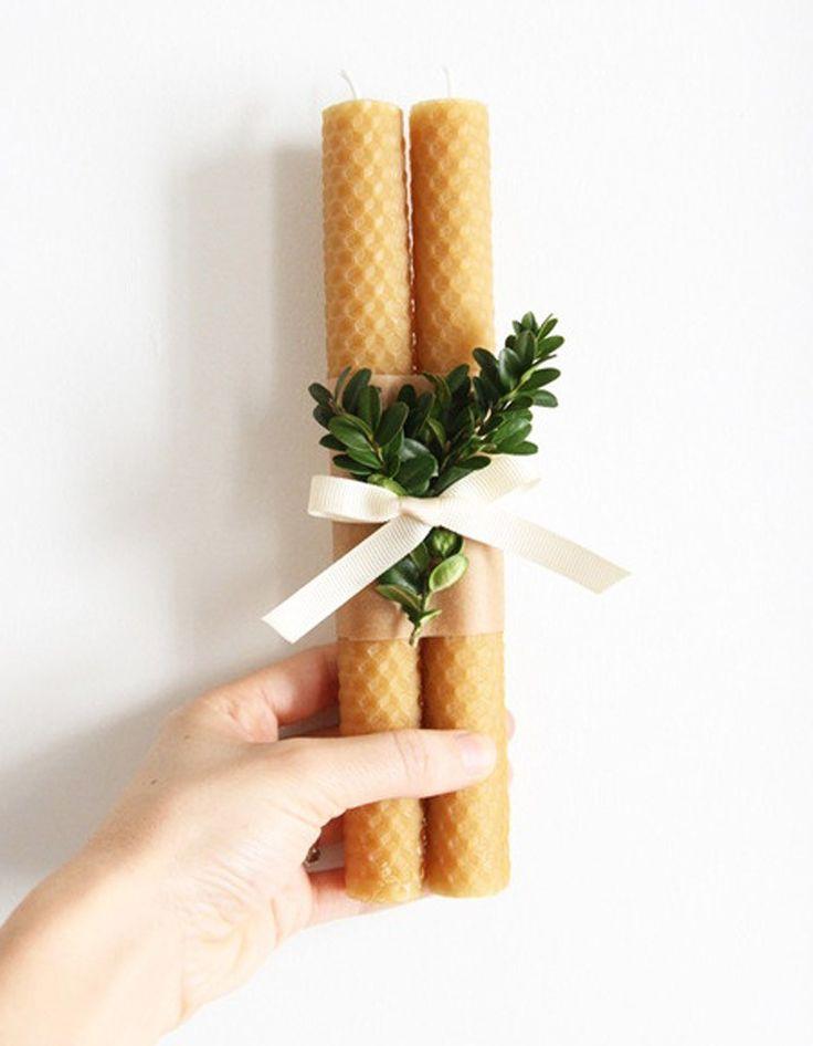 Des bougies en cire d'abeille jfc-creations.com #HomeSweetHome