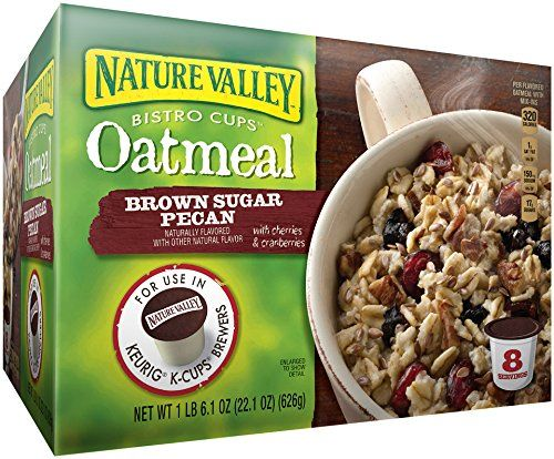 Nature Valley Bistro Cups Oatmeal for the Keurig® Machine, Brown Sugar Pecan, 22.1 Ounce Nature Valley http://www.amazon.com/dp/B00IP6Y264/ref=cm_sw_r_pi_dp_rERPvb16C1QG6