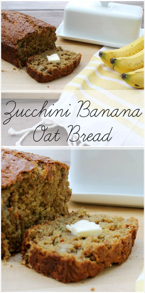 Zucchini Banana Oat Bread - Kid Approved