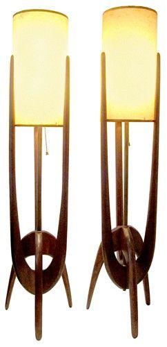 Lâmpadas do meados do século.