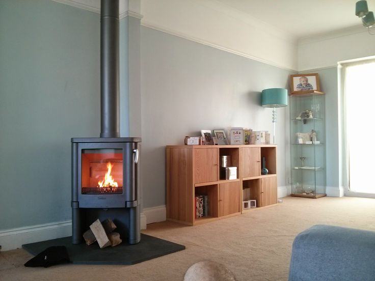 A Contura 54 we recently free fitted on Riven Slate hearth!