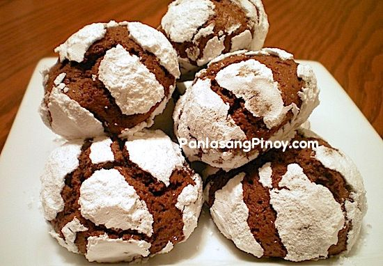 Chocolate Crinkles by Panlasang Pinoy. LOVE this recipe, they come out perfect every time. I give them as Xmas gifts and everyone loves them :-)