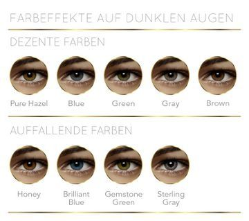 Air Optix Colors auf dunklen Augen