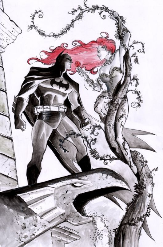 Batman and Poison Ivy by Juan Ferreyra