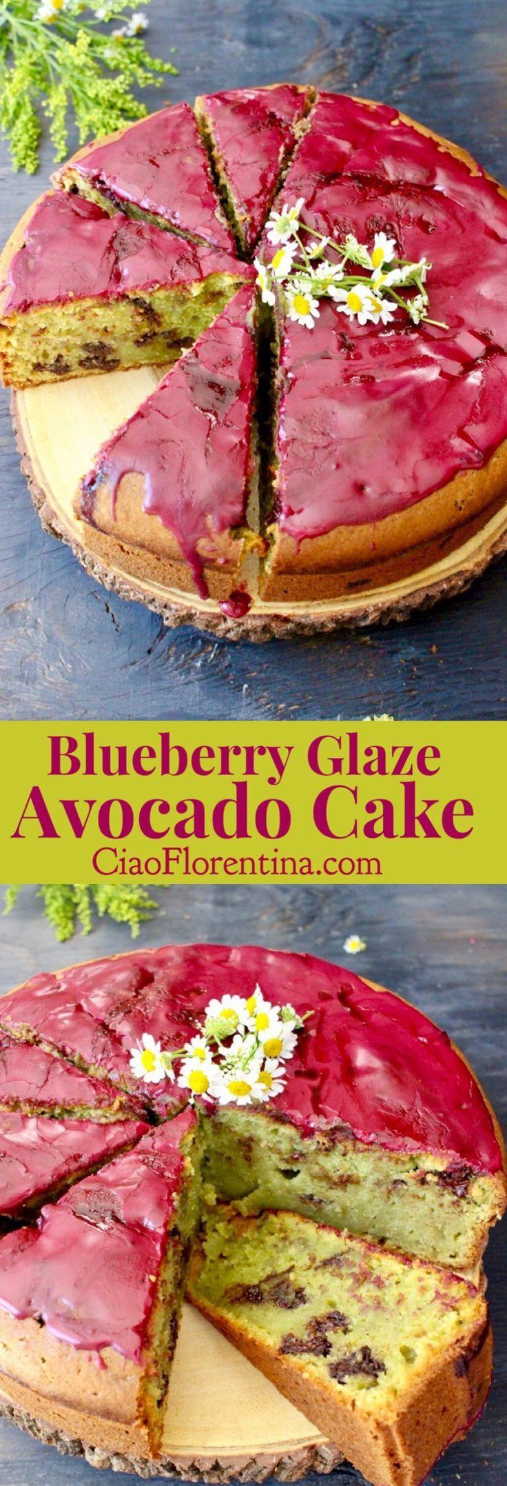 Blueberry Glaze Avocado Cake Recipe  with Ricotta and Olive Oil | CiaoFlorentina.com @CiaoFlorentina