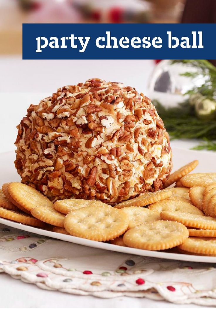 Party Cheese Ball — Known to frequent holiday dinner parties, this creamy cheese ball appetizer with a nutty exterior doesn't stick around long.