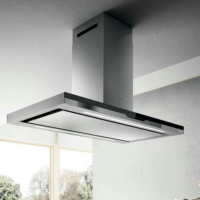 Marvelous Elica hood stainless steel with black glass
