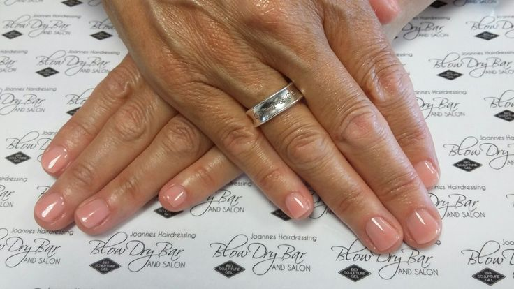 Biosculpture Gel overlay on very short nails Colour #2060 #FullersEarth
