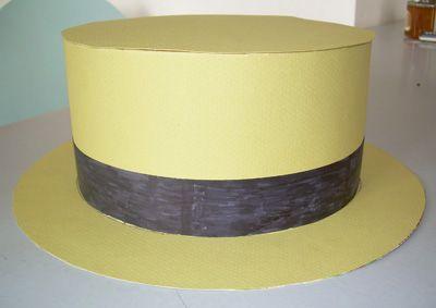 chapeau en papier canotier activit manuelle et bricolage enfant meuble en carton pinterest. Black Bedroom Furniture Sets. Home Design Ideas