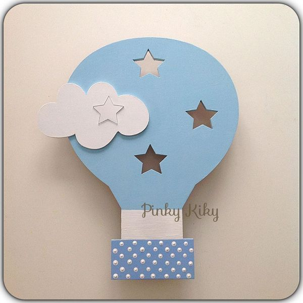Awesome Wandlampe Schlummerlicht Hei luftballon Wandlampe KinderzimmerDeckenlampe SterneDawanda